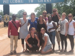 Volunteers in Ghana.
