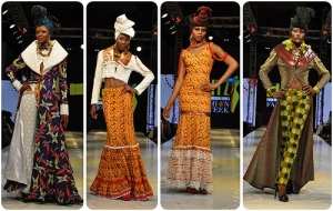Dresses by Ghanian fashion designer Kofi Ansah.
