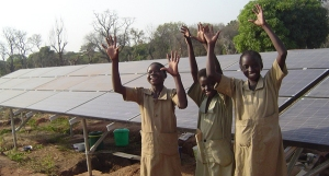 Girls-happy-w-solar-panels