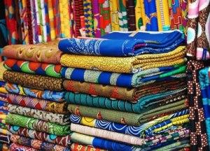 Colourful Ghana textiles.